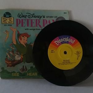 Vintage Disney Peter Pan Book and Record